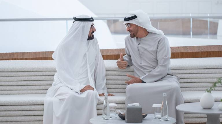 An image that illustrates this article Sheikh Mohammed bin Rashid and Sheikh Mohamed bin Zayed meet at Expo