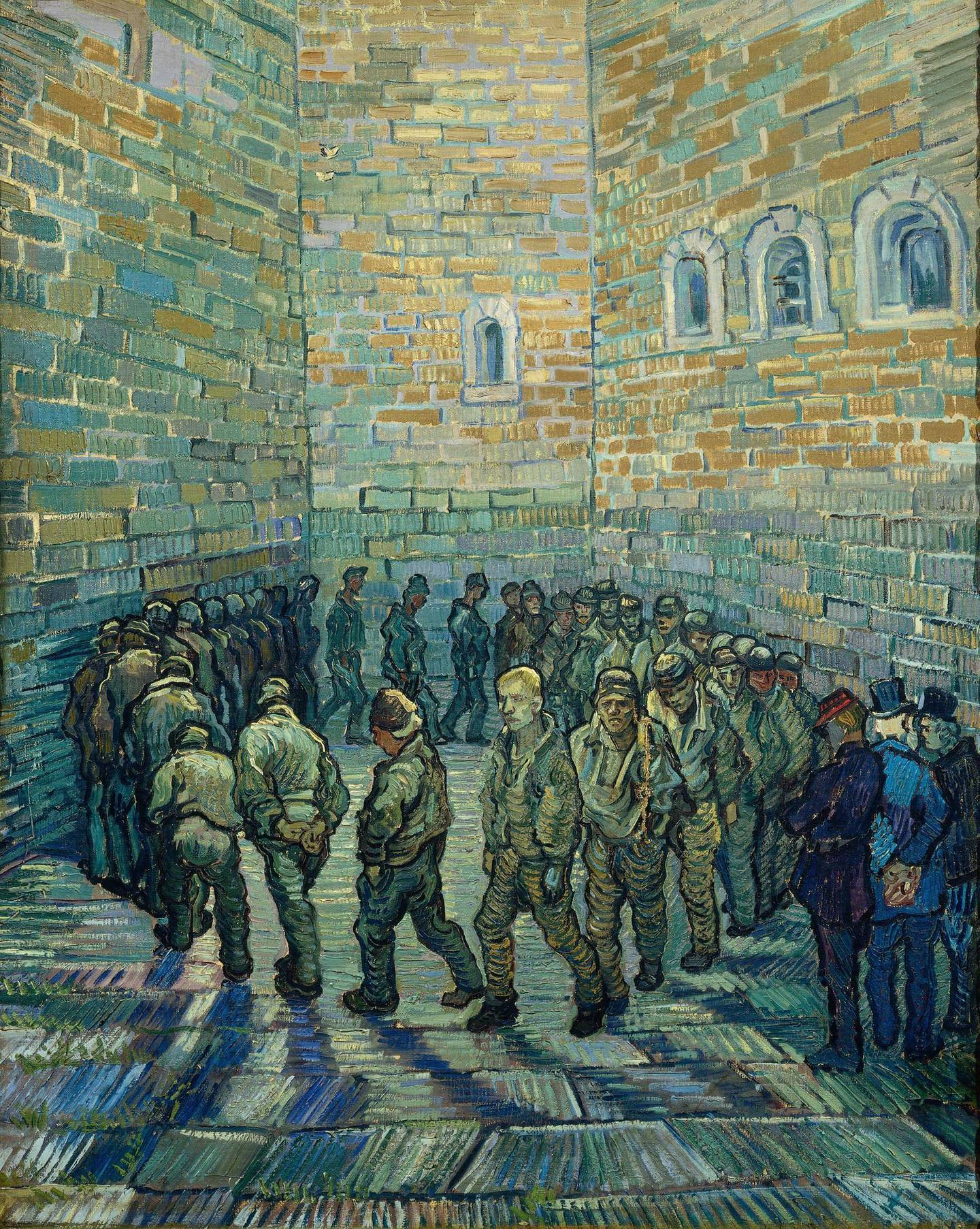Vincent van Gogh (1853 – 1890) The Prison Courtyard 1890 Oil paint on canvas 800 x 640 mm © The Pushkin State Museum of Fine Arts, Moscow Gogh, Vincent van (1853-1890): Prisoners Exercising (Taking the Air in a Prison Yard). Moscow, Pushkin Museum*** Permission for usage must be provided in writing from Scala. ***