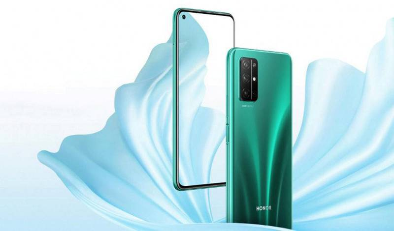 The Honor 30S boast a 6.5-inch FHD+ IPS display with a punch-hole cutout in the top left corner for the 16MP selfie camera. The right-hand-side houses the capacitive fingerprint scanner.