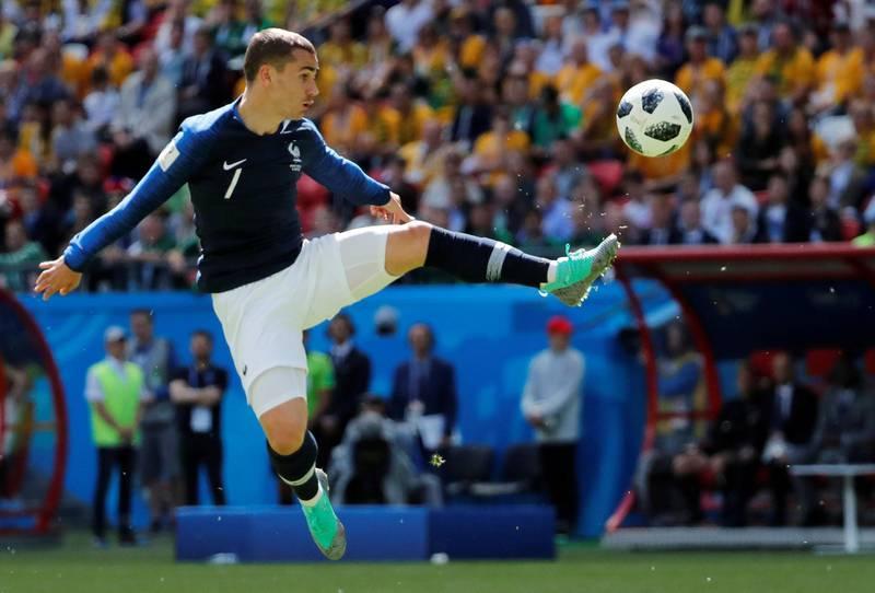 FILE PHOTO: Soccer Football - World Cup - Group C - France vs Australia - Kazan Arena, Kazan, Russia - June 16, 2018   France's Antoine Griezmann in action    REUTERS/Jorge Silva/File Photo