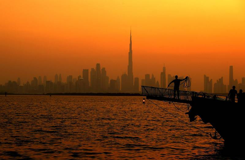DUBAI, UNITED ARAB EMIRATES - JULY 07: A general view of the Dubai Skyline on July 07, 2020 in Dubai, United Arab Emirates. Dubai has reopened to international tourists after airports in Dubai were closed as UAE authorities implemented preventive measures to stop the spread of Covid-19. (Photo by Francois Nel/Getty Images)