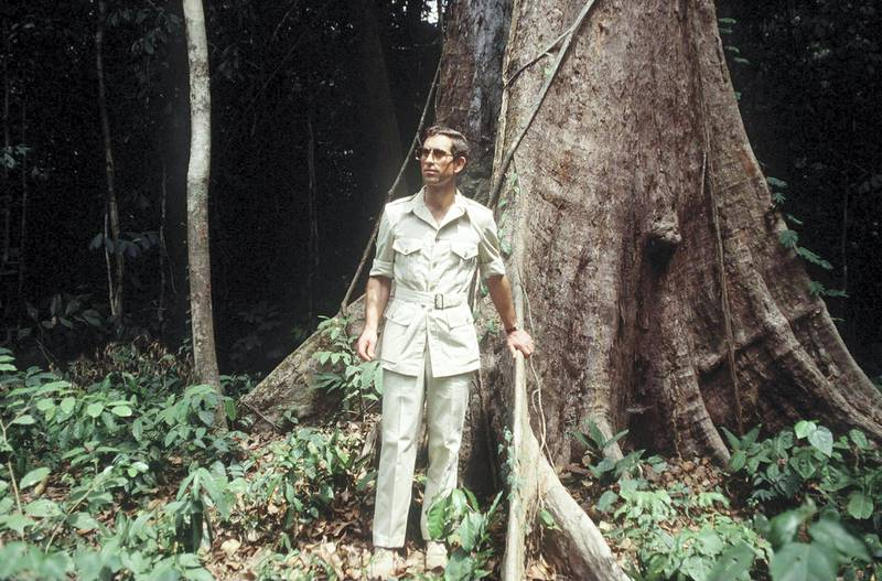 CAMEROON - MARCH 22:  Prince Charles, Whose Interest In The Survival Of The Rainforests Has Been Well Reported,  Wearing A Safari Suit Visiting The Rainforest In The Cameroon  (Photo by Tim Graham Photo Library via Getty Images)