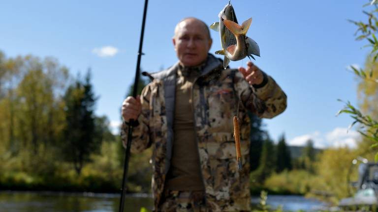 An image that illustrates this article Putin holidays in remote Russian wilderness fishing spot of Amur Oblast
