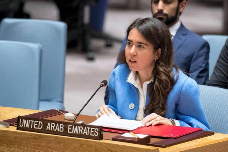 Lana Nusseibeh at the UN security council. Courtesy UN