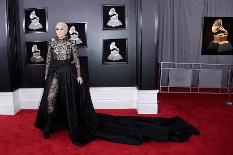epa06482623 Lady Gaga arrives for the 60th annual Grammy Awards ceremony at Madison Square Garden in New York, New York, USA, 28 January 2018.  EPA-EFE/JASON SZENES