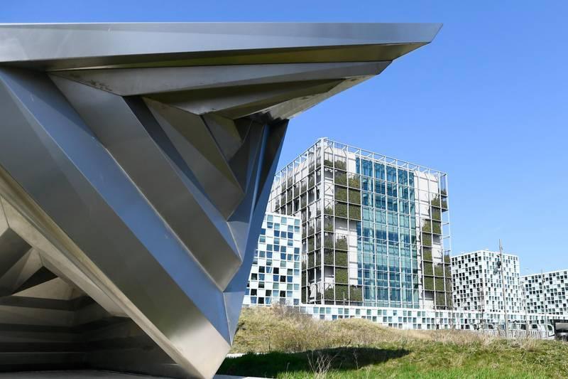 An exterior view of the International Criminal Court in the Hague, Netherlands, March 31, 2021. REUTERS/Piroschka van de Wouw