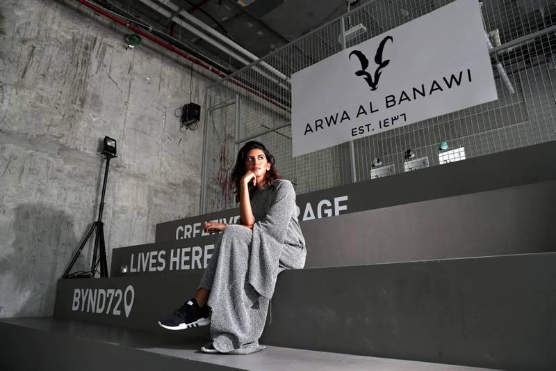 Dubai, United Arab Emirates - September 13th, 2017:  Arwa Al Banawi a Dubai-based Saudi designer and her fashion collaboration with Adidas. Wednesday, September 13th, 2017, Building 6, Dubai Design District, Dubai. Chris Whiteoak / The National