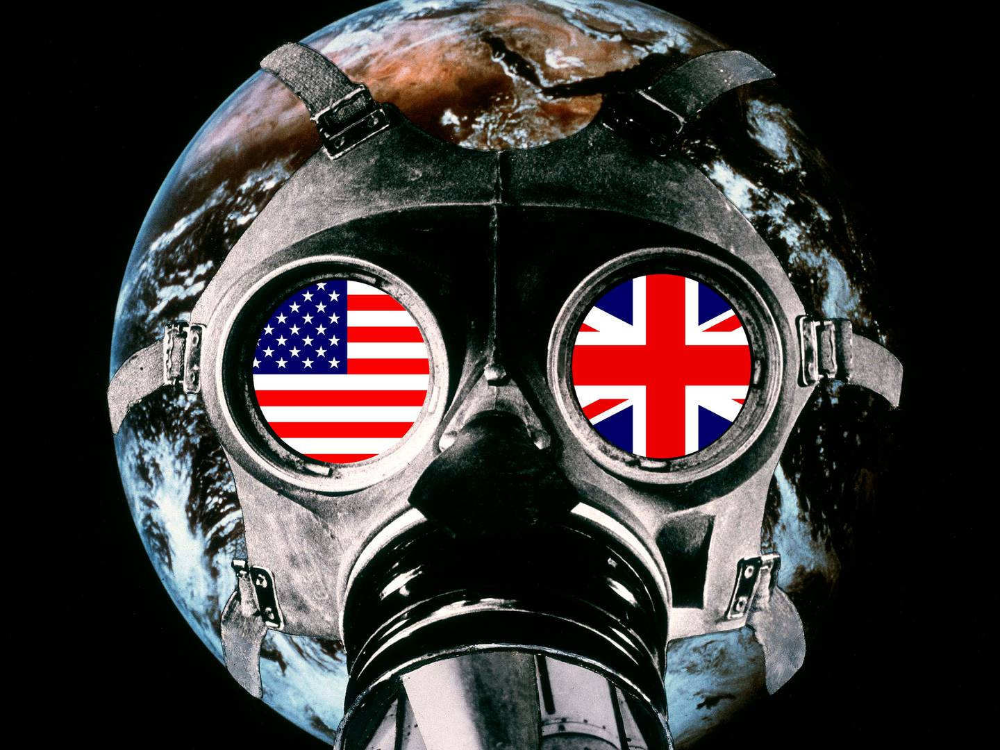 Defended to death, 1980 photomontage, Tate collection, remade in 2003 as Union Mask. Courtesy Peter Kennard