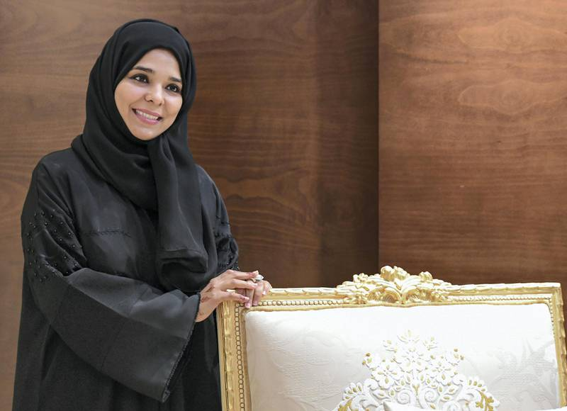 Abu Dhabi, United Arab Emirates - Shaima Al Jabry, 39, at her home in Baniyas, is the first Emirati to attain a licence as a life coach on October 17, 2018. (Khushnum Bhandari/ The National)