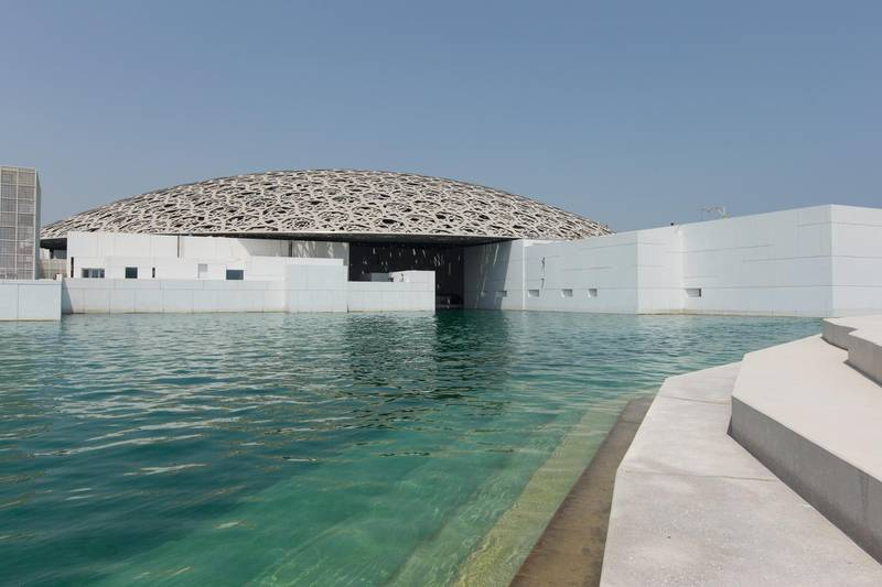 Abu Dhabi, United Arab Emirates, June 22, 2017:     General view of the Louvre Abu Dhabi construction site on Saadiyat Island in Abu Dhabi on June 22, 2017. Christopher Pike / The National  Reporter: James Langston, Nick Leech Section: Louvre Stone beach   *** Local Caption ***  CP0622-Louvre-13.JPG