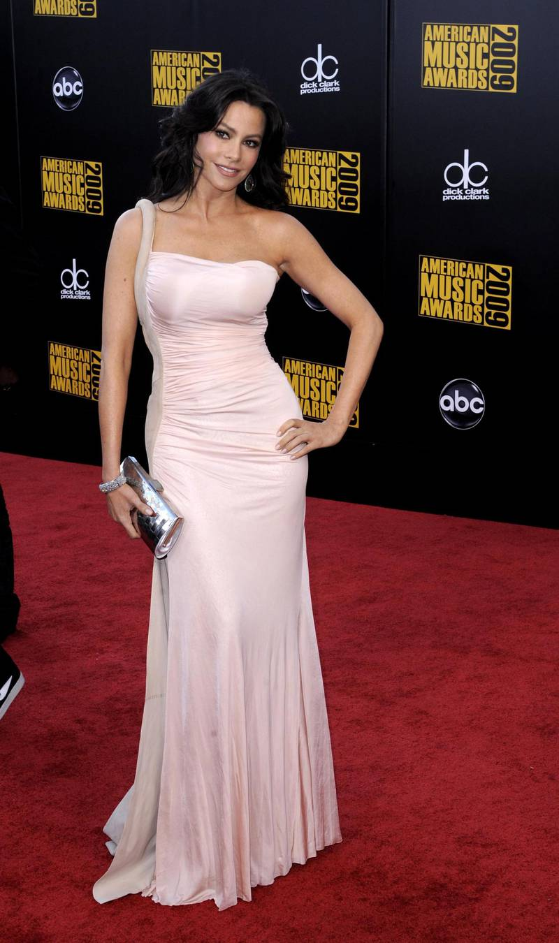 epa01942256 Colombian actress Sofia Vergara arrives for the American Music Awards in Los Angeles, California, USA 22 November 2009. The American Music awards honor the year's top selling artists in the categories of pop/rock, country, rap/hip-hop, soul/R&B, alternative, adult contemporary, Latin and adult contemporary with fans voting online to determine the winners.  EPA/PAUL BUCK