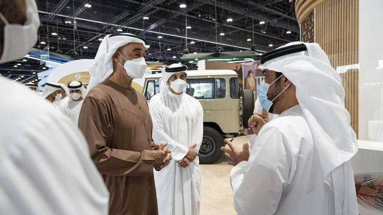 An image that illustrates this article MBZ visits Adihex 2021 - in pictures