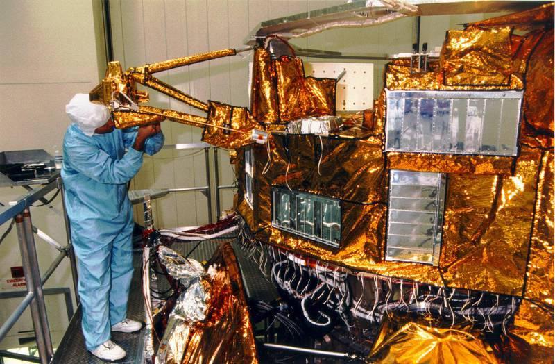 Cassini assembly at JPL.
