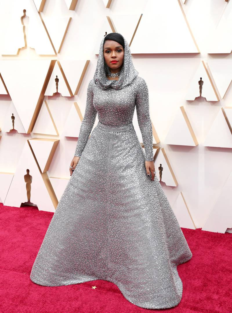 epa08207036 Janelle Monae arrives for the 92nd annual Academy Awards ceremony at the Dolby Theatre in Hollywood, California, USA, 09 February 2020. The Oscars are presented for outstanding individual or collective efforts in filmmaking in 24 categories.  EPA-EFE/DAVID SWANSON