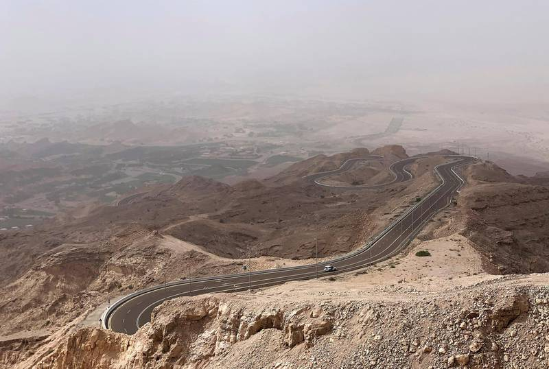 AL AIN, UNITED ARAB EMIRATES , May 03 – 2020 :- Beautiful landscape taken from Jebel Hafeet mountain in Al Ain. (Pawan Singh / The National) For News/Standalone/Online/Big Picture/Instagram
