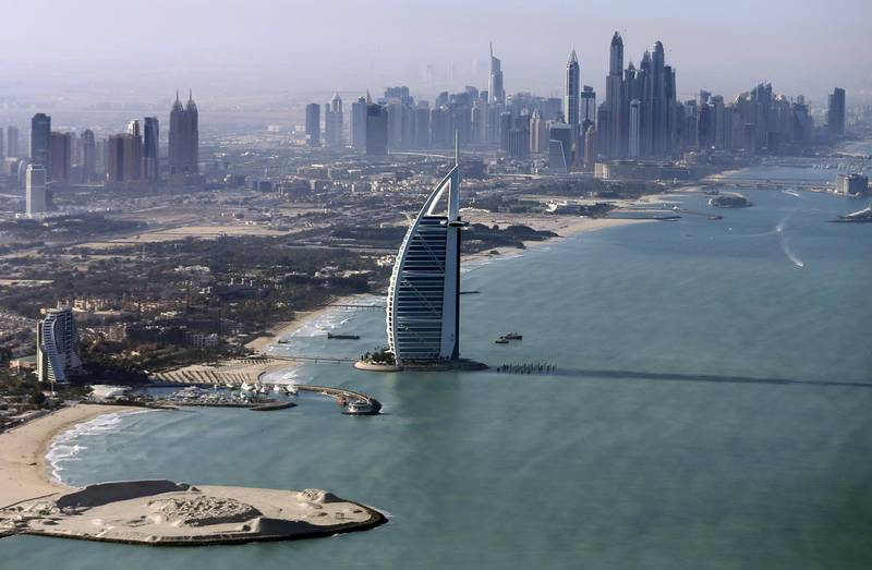 FILE PHOTO: A general view of the luxury Burj al-Arab Hotel at Jumeirah area in Dubai, UAE December 9, 2015. REUTERS/Karim Sahib/Pool/File Photo