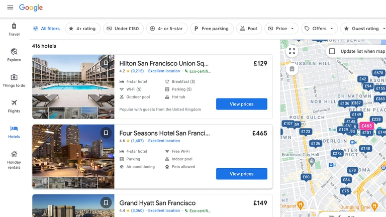 An image that illustrates this article Google now labels hotels as 'eco certified' in bid to promote sustainable travel