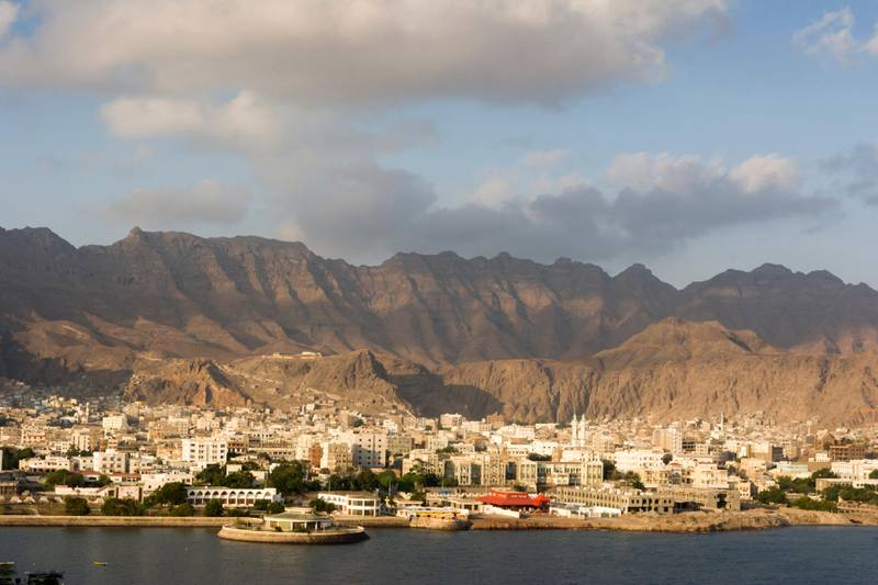 Old town of Aden with mountains on background at sunrise, Aden, Aden Governorate, Yemen. Getty Images