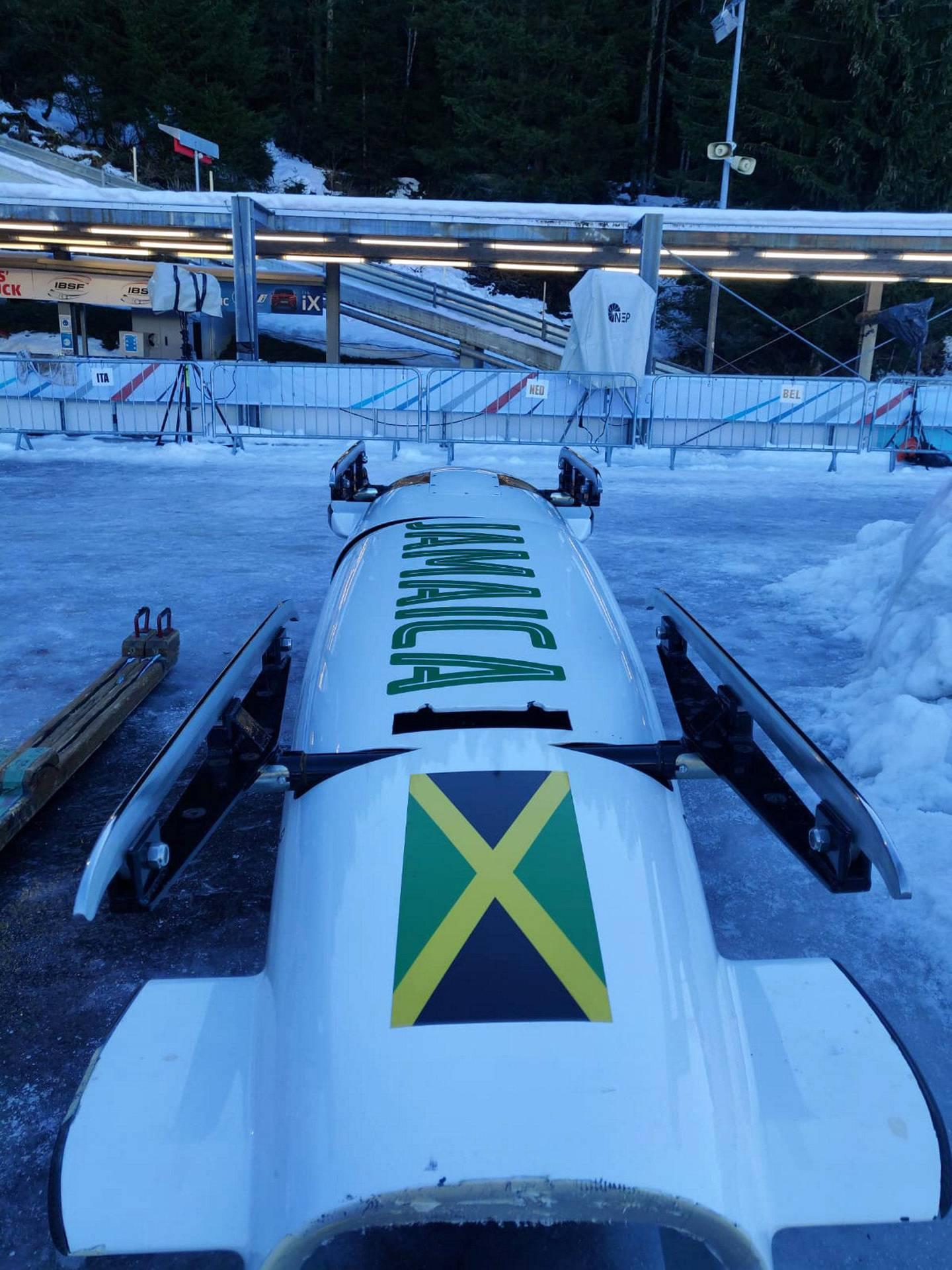 Courtesy Jamaican Bobsleigh Team