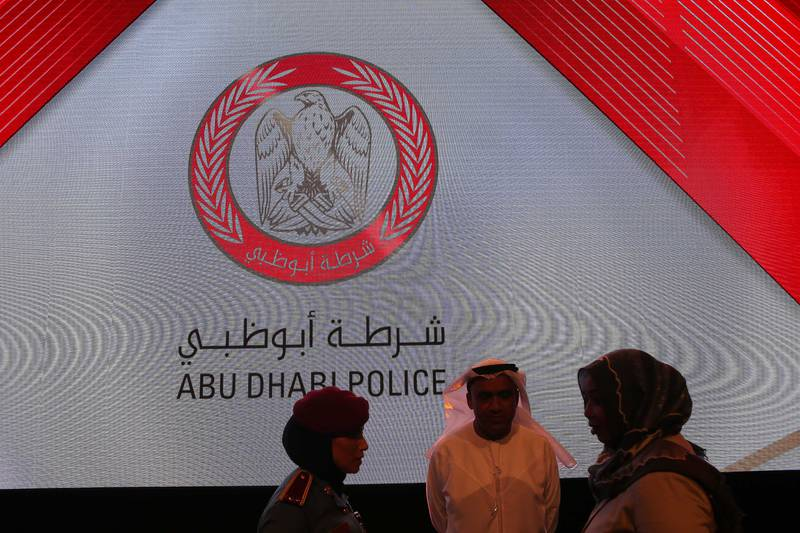 ABU DHABI , UNITED ARAB EMIRATES , JULY 24 – 2017 :- New logo of Abu Dhabi Police launched by Mohammed K Al Romaithi , Deputy Commander – in Chief of Abu Dhabi Police at the Armed Forces Officers Club in Abu Dhabi . ( Pawan Singh / The National ) Story by Haneen