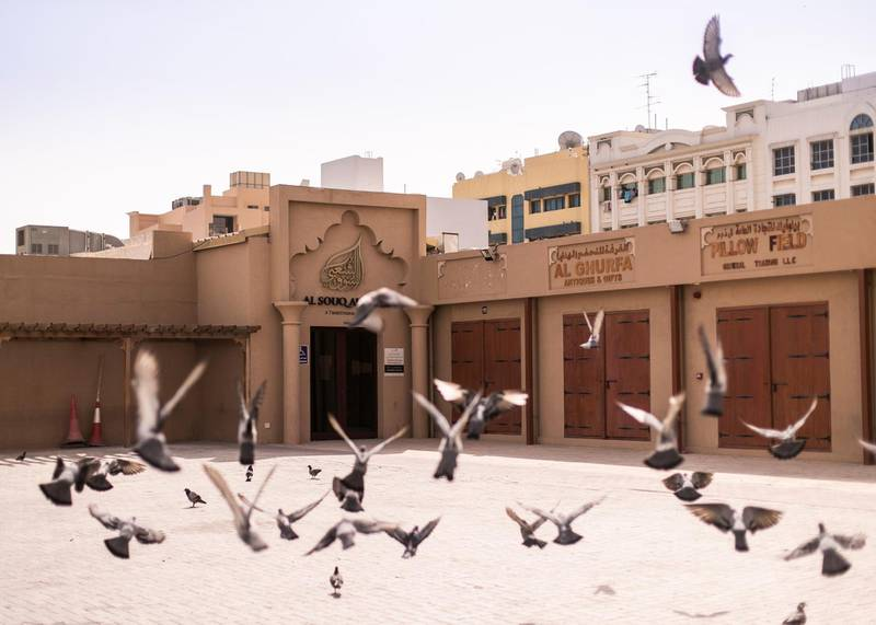 DUBAI, UNITED ARAB EMIRATES. 7 APRIL 2020. Closed Traditional Souq in Naif (outside the quarantined area). Once vibrant, Deira streets are now more quiet after the movement restrictions placed post-COVID outbreak.(Photo: Reem Mohammed/The National)Reporter:Section:
