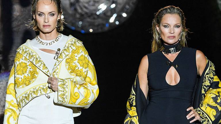 An image that illustrates this article Fendi and Versace team up for 'disruptive' Fendace show - in pictures