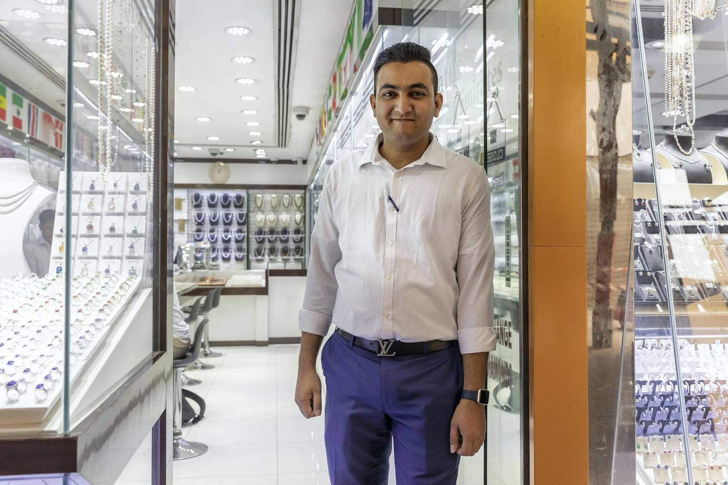 DUBAI, UNITED ARAB EMIRATES.  02 JULY 2018. The Gold Souk in Deira is due for an upgrade by the Munisipality. Deep Zaveri of Emirates Diamonds Jewelery. (Photo: Antonie Robertson/The National) Journalist: Anam Rizvi. Section: National.