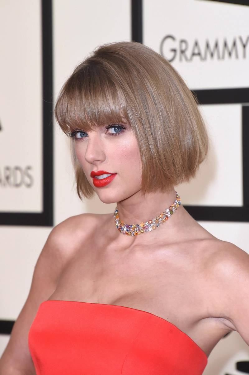 LOS ANGELES, CA - FEBRUARY 15: Musician Taylor Swift attends The 58th GRAMMY Awards at Staples Center on February 15, 2016 in Los Angeles, California.   Jason Merritt/Getty Images/AFP