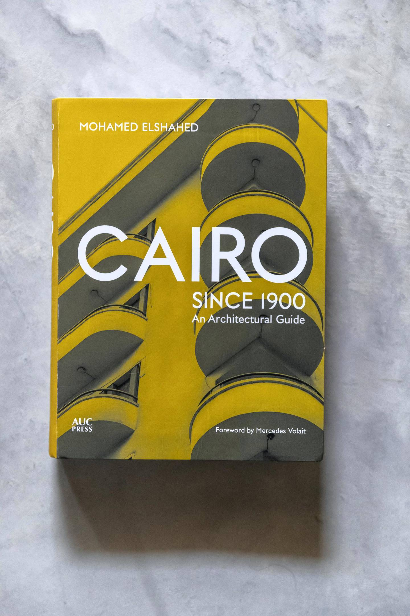 SHARJAH, UNITED ARAB EMIRATES. 04 JANUARY 2020. Mohamed EL Shahed's recently published book on the architecture of Cairo in Egypt. (Photo: Antonie Robertson/The National) Journalist: Razmig Bedirian. Section: Arts and Culture.