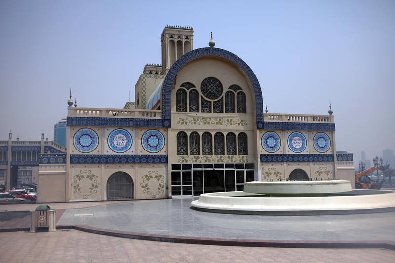United Arab Emirates -Sharjah- July 21, 2009:ARTS & LIFE: This is one of the entrances to the Central Market, also known as the Blue Souk, in Sharjah on Tuesday, July 21, 2009. Amy Leang/The National