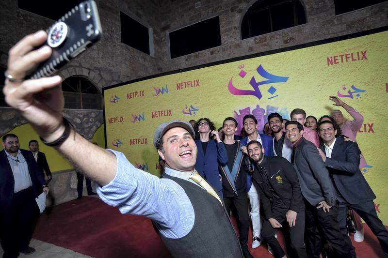 "AMMAN, JORDAN - JUNE 12: The cast of ""Jinn"" attend World Premiere of Netflix Original series ""Jinn"" at Bisharat Golf Club on June 12, 2019 in Amman, Jordan. (Photo by Juan Naharro Gimenez/Getty Images for Netflix)"