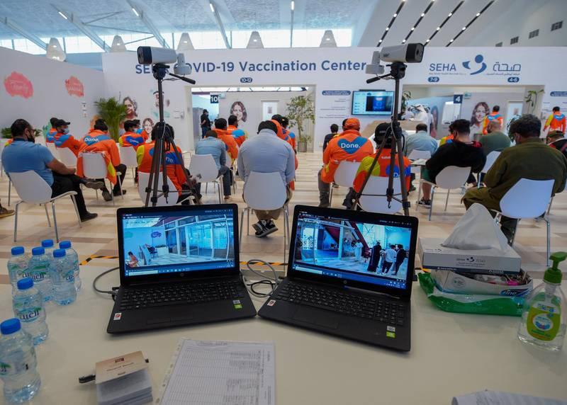 Abu Dhabi, United Arab Emirates, January 12, 2021. SEHA Vaccination Centre at the Abu Dhabi Cruise Terminal area.Victor Besa/The NationalSection:  NAReporter:  Shireena Al Nowais