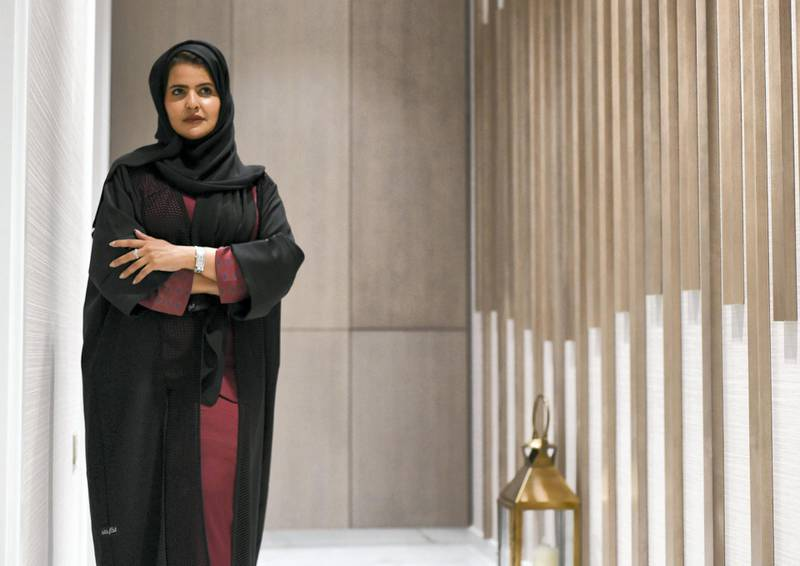 Abu Dhabi, United Arab Emirates - Fatema Al Rashdi is the owner and founder of Blonde Luxury Beauty Lounge, who has her own perfume line and clothing collection in Khalifa City. Khushnum Bhandari for The National