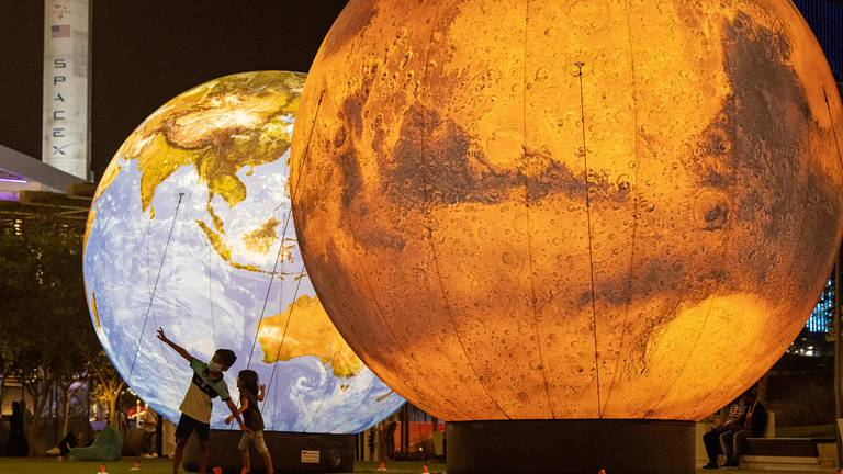 An image that illustrates this article Interplanetary spectacle lights up Expo to celebrate Space Week