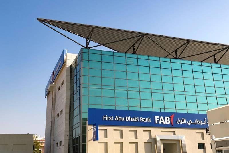 Dubai, United Arab Emirates - February 8th, 2018: General Views of First Abu Dhabi Bank. Thursday, February 8th, 2018. Jumeirah Beach Road, Dubai. Chris Whiteoak / The National