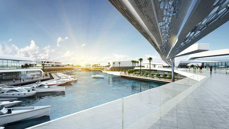 Al Qana - view from the bridge. Courtesy Department of Urban Planning and Municipalities and Al Barakah International Investment