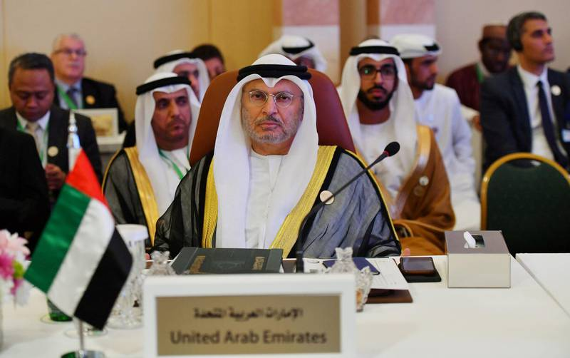 FILE PHOTO: UAE Minister of State for Foreign Affairs Anwar Gargash is seen during preparatory meeting for the GCC, Arab and Islamic summits in Jeddah, Saudi Arabia, May 29, 2019.  REUTERS/Waleed Ali/File Photo