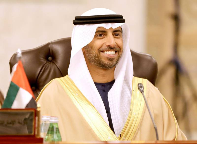 UAE Energy Minister Suhail al-Mazrouei attends a meeting by the Organisation of Arab Petroleum Exporting Countries (OAPEC) in Kuwait City on December 10, 2017. / AFP PHOTO / Yasser Al-Zayyat