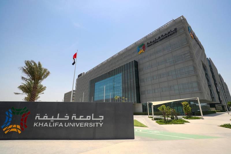 Abu Dhabi, United Arab Emirates - July 17, 2018: Stock images of Khalifa University. Monday, July 17th, 2018 at Khalifa University, Abu Dhabi. Chris Whiteoak / The National