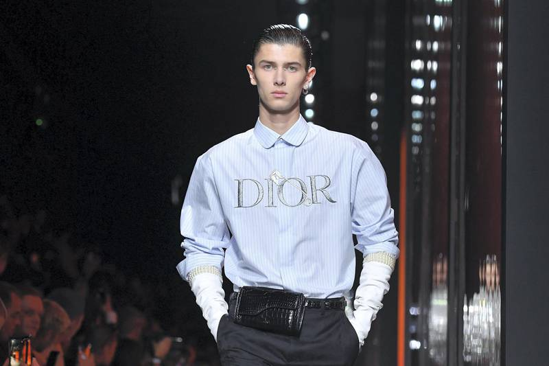 PARIS, FRANCE - JANUARY 17: Prince Nikolai of Denmark walks the runway during the Dior Homme Menswear Fall/Winter 2020-2021 show as part of Paris Fashion Week on January 17, 2020 in Paris, France. (Photo by Stephane Cardinale - Corbis/Corbis via Getty Images)