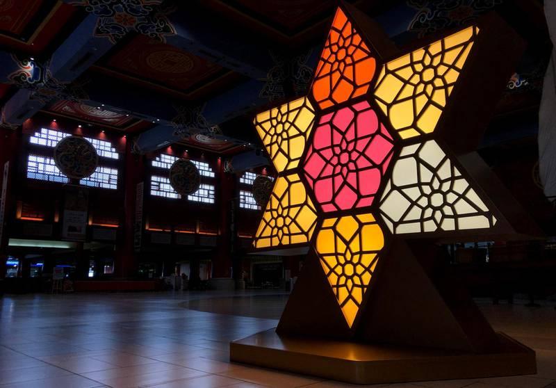 Dubai, United Arab Emirates - Reporter: N/A. News. Ramadan decorations in Ibn Battuta mall. Sunday, April 18th, 2021. Dubai. Chris Whiteoak / The National
