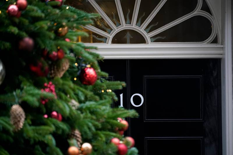 LONDON, ENGLAND - DECEMBER 12:  A view of 10 Downing Street's door after it was announced that Prime Minister Theresa May will face a vote of no confidence, to take place tonight, on December 12, 2018 in London, England. Sir Graham Brady, the chairman of the 1922 Committee, has received the necessary 48 letters (15% of the parliamentary party) from Conservative MP's that will trigger a vote of no confidence in the Prime Minister.  (Photo by Christopher Furlong/Getty Images)