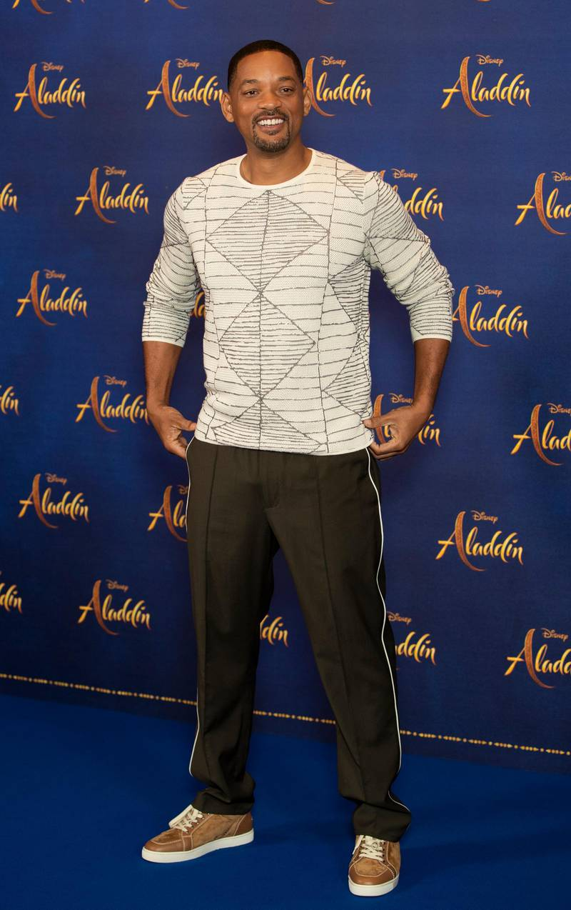 """LONDON, ENGLAND - MAY 10: Will Smith attends the """"Aladdin""""press conference at Rosewood Hotel on May 10, 2019 in London, England. (Photo by John Phillips/Getty Images)"""