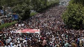 Thousands attend funeral of slain Sufi musician in Pakistan
