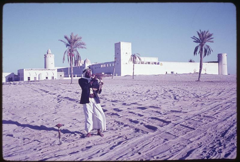 historic photo of Qasr Al Hosn  fort in Abu Dhabi,   Courtesy Qasr Al Hosn  *** Local Caption ***  QAHHistoric-01.jpg
