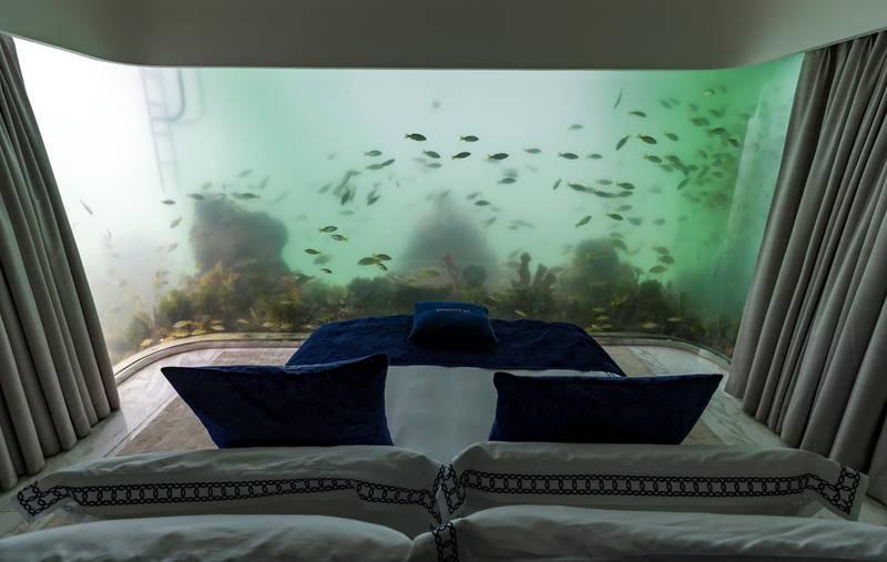 Dubai, United Arab Emirates - August 13, 2018: The Floating seahorse villa. Monday, August 13th, 2018 in Dubai. Chris Whiteoak / The National
