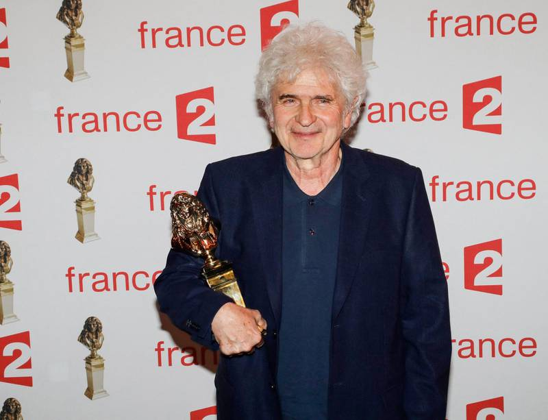 (FILES) In this file photo taken on May 23, 2016, stage director Alain Francon poses after receiving the Moliere Award for the best director in a private theatre during the 28th Ceremony of the French Theatre Molieres awards at the Folies Bergers in Paris.   French stage director Alain Francon, 76, was assaulted in Montpellier on March 17, 2021, and seriously injured with a knife. He was taken to hospital. / AFP / FRANCOIS GUILLOT