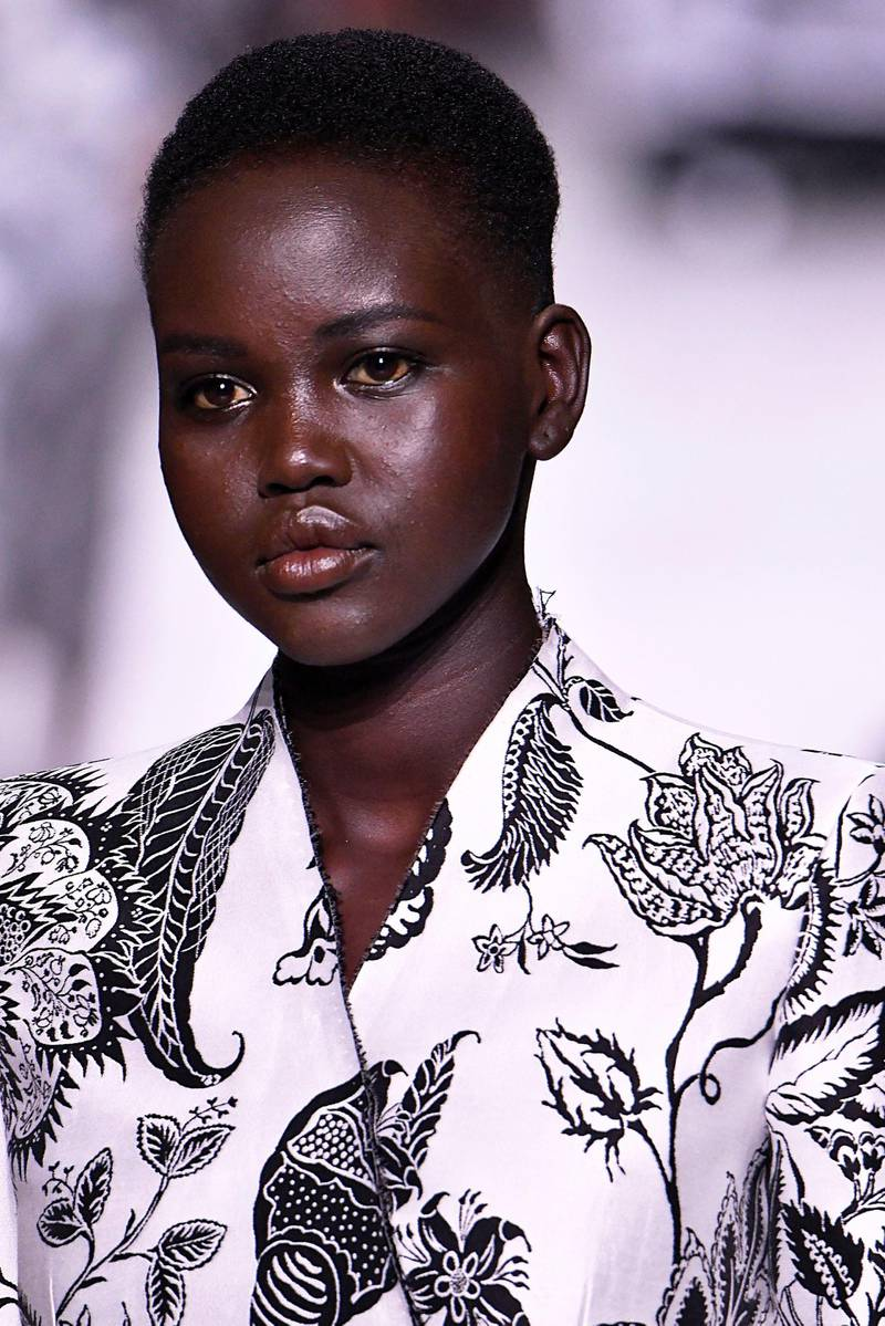 PARIS, FRANCE - JULY 02: Adut Akech walks the runway during the Givenchy Haute Couture Fall/Winter 2019 2020 show as part of Paris Fashion Week on July 02, 2019 in Paris, France. (Photo by Victor VIRGILE/Gamma-Rapho via Getty Images)