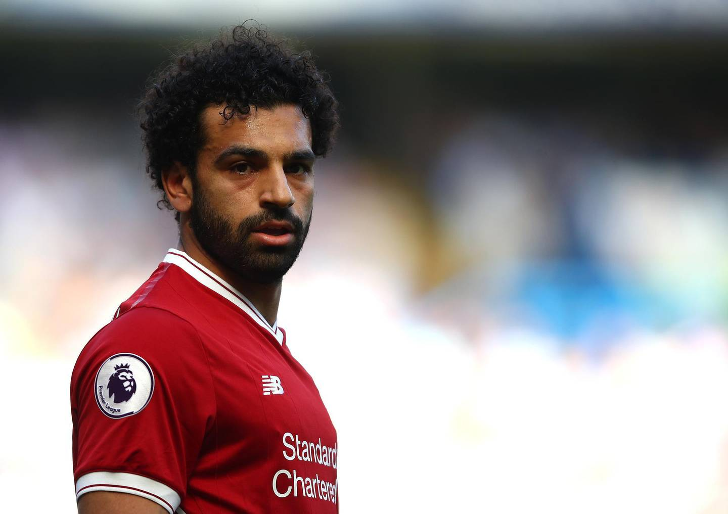 LONDON, ENGLAND - MAY 06:  Mohamed Salah of Liverpool looks on during the Premier League match between Chelsea and Liverpool at Stamford Bridge on May 6, 2018 in London, England.  (Photo by Julian Finney/Getty Images)