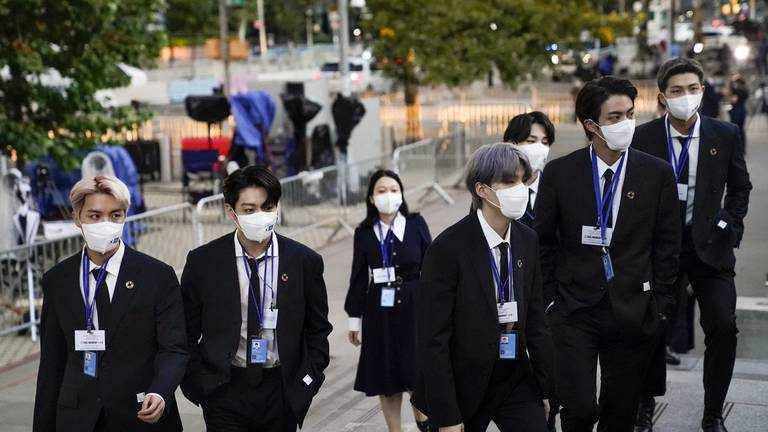 An image that illustrates this article BTS at UN General Assembly: 'We are here to share the stories of our future generations'